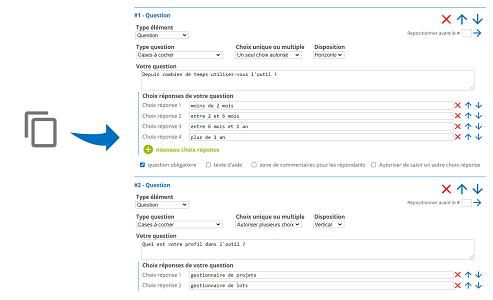 Créez un nouveau questionnaire par simple copier-coller