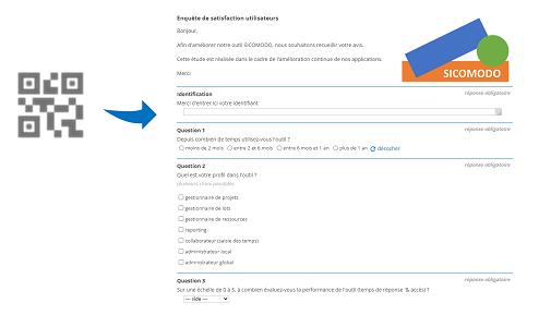 Donnez accès à votre questionnaire avec un QRCode